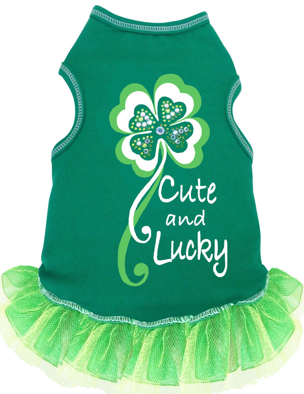 CUTE & LUCKY GREEN ST. PATRICK'S DAY DOG TANK DRESS, Shirts Tanks & Tees - Bones Bizzness