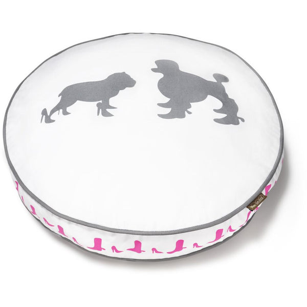 HEELS & BOOTS WHITE DOG BED, Beds - Bones Bizzness