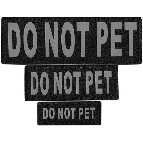DO NOT PET SERVICE DOG REMOVABLE PATCHES (S/M/L/XL), SERVICE DOG - Bones Bizzness