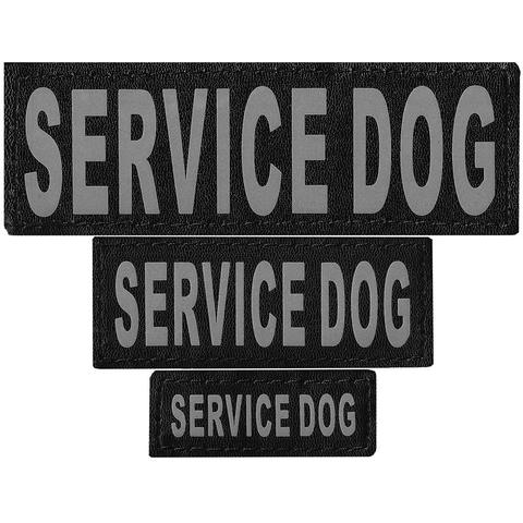 SERVICE DOG REMOVABLE PATCHES (S/M/L/XL), SERVICE DOG - Bones Bizzness