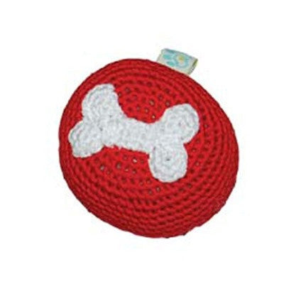 BONE CROCHET BALL DOG TOY, Toys - Bones Bizzness