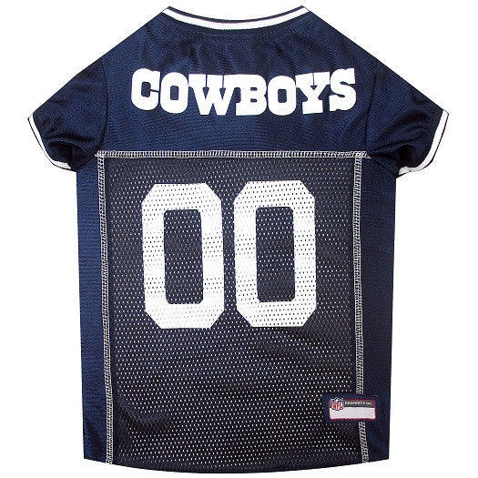 DALLAS COWBOYS DOG JERSEY- WHITE TRIM, NFL Jerseys - Bones Bizzness