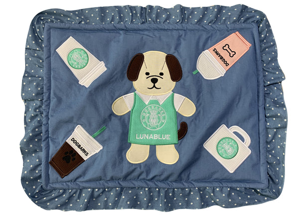DOGBARKS CAFE PLUSH DOG MAT