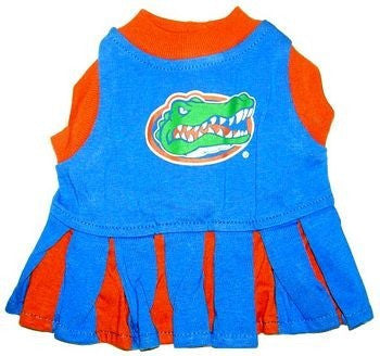 FLORIDA GATORS CHEERLEADER DOG DRESS, NCAA - Bones Bizzness