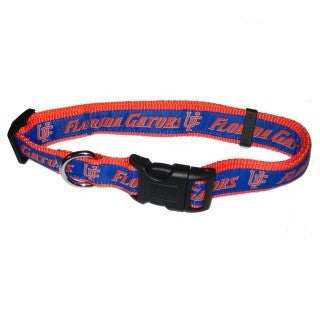 FLORIDA GATORS DOG COLLAR – RIBBON, NCAA - Bones Bizzness