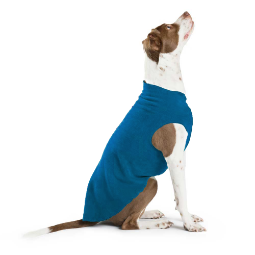 GOLD PAW STRETCH DOG FLEECE | Our superb year round popover jacket is the best you'll find anywhere! Marine Blue. Soft. Warm Cozy with 4-way Stretch fabric. Best Seller.