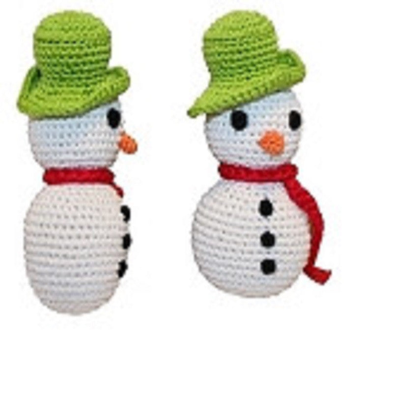 FROST THE SNOWMAN ORGANIC CROCHET DOG TOY, Toys - Bones Bizzness