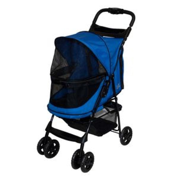 HAPPY TRAILS NO ZIP PET STROLLER - BLUE, Strollers - Bones Bizzness