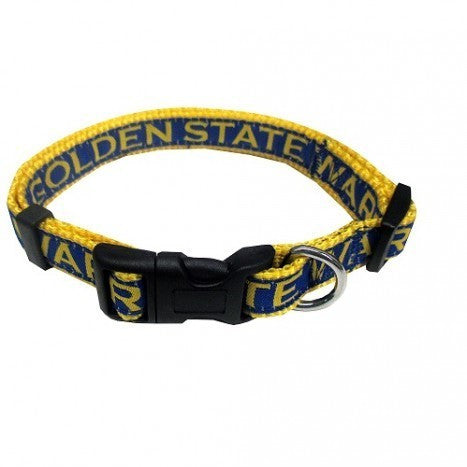 GOLDEN STATE WARRIORS DOG COLLAR – RIBBON, NBA - Bones Bizzness