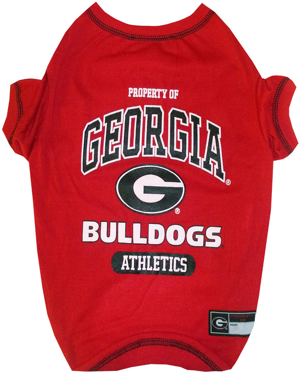GEORGIA BULLDOGS DOG TEE SHIRT GREY, NCAA - Bones Bizzness