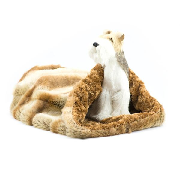 GOLDEN CHINCHILLA W/ CARAMEL APPLE CURLY SUE CUDDLE CUP DOG BED, Beds - Bones Bizzness