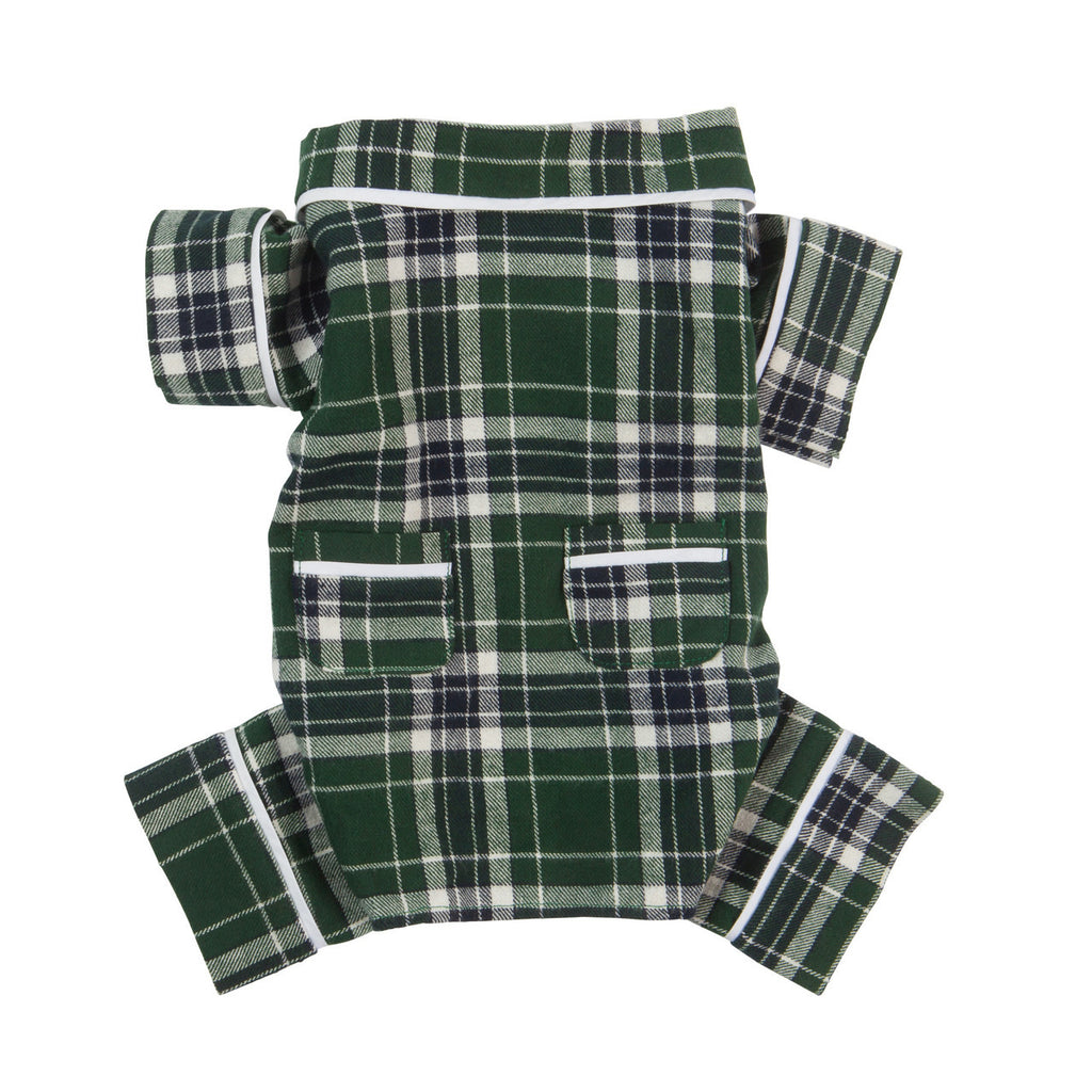 GREEN PLAID DOG PAJAMAS, PAJAMAS - Bones Bizzness