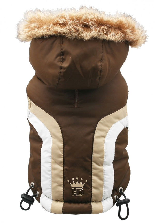 ALPINE SWISS DOG JACKET - BROWN, Coats - Bones Bizzness