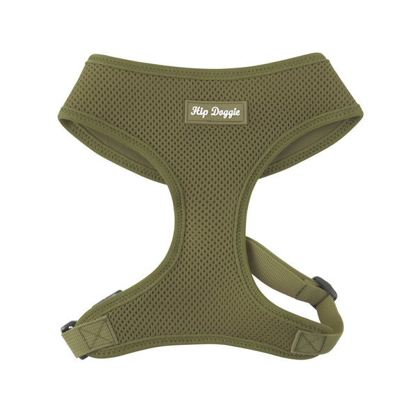 ULTRA COMFORT MESH HARNESS VEST - OLIVE GREEN
