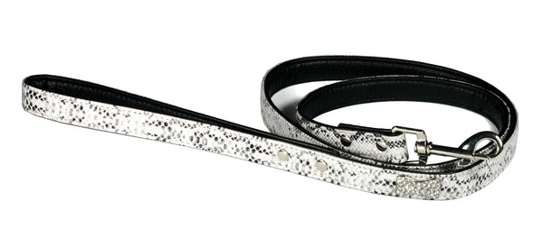 BONE CHARM DOG LEASH - WHITE