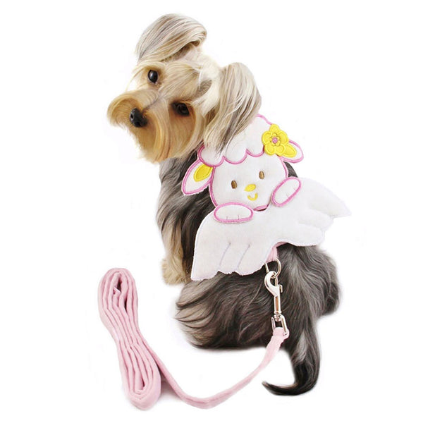 SHEEP ANGEL HARNESS W/MATCHING LEASH, Harness - Bones Bizzness