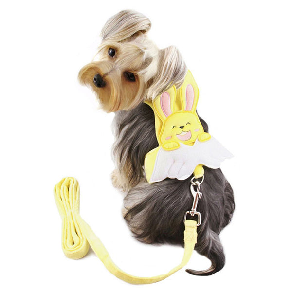 BUNNY ANGEL HARNESS W/MATCHING LEASH, Harness - Bones Bizzness