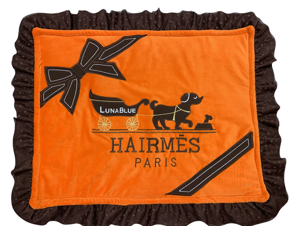 HAIRMES PLUSH MAT - ORANGE