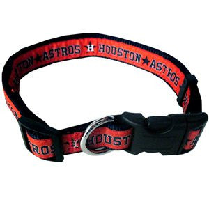 HOUSTON ASTROS DOG COLLAR – RIBBON, MLB - Bones Bizzness