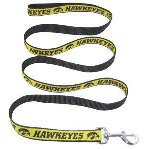 IOWA HAWKEYES DOG LEASH – RIBBON, NCAA - Bones Bizzness