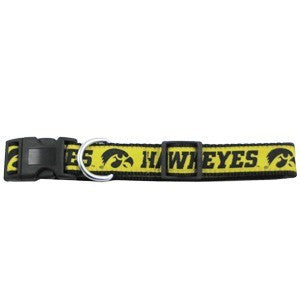 IOWA HAWKEYES DOG COLLAR – RIBBON, NCAA - Bones Bizzness