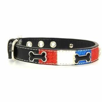 PATRIOTIC ICE CREAM BONE DOG COLLAR, Collars - Bones Bizzness