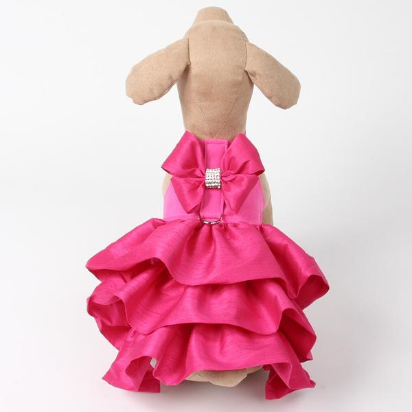 PINK SAPPHIRE MADISON COUTURE DOG DRESS HARNESS, DRESS - Bones Bizzness