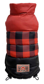 RED BUFFALO CHECK COLORBLOCK PUFFER