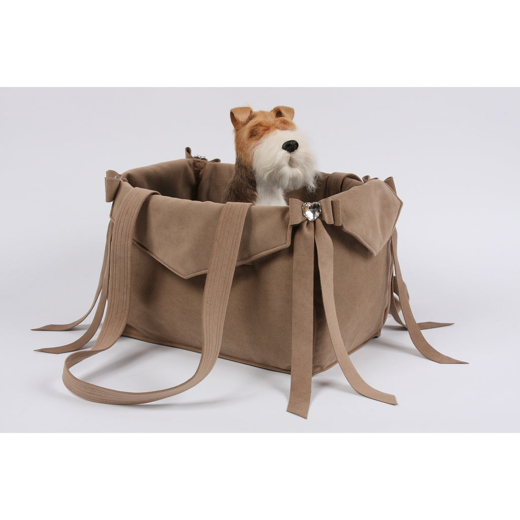 SUSAN LANCI FAWN TAIL BOW HEART PURSE/CARRIER, Carriers - Bones Bizzness