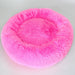 FUSCHIA CUDDLE SHAG DOG BED