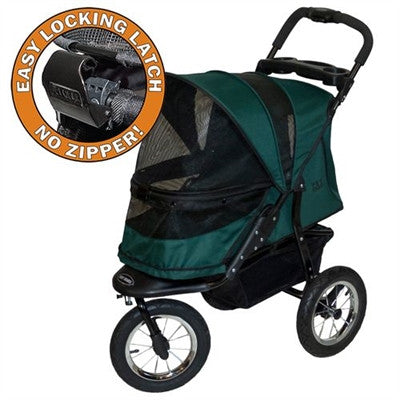 JOGGER NO-ZIP DOG STROLLER FOREST GREEN, STROLLERS - Bones Bizzness