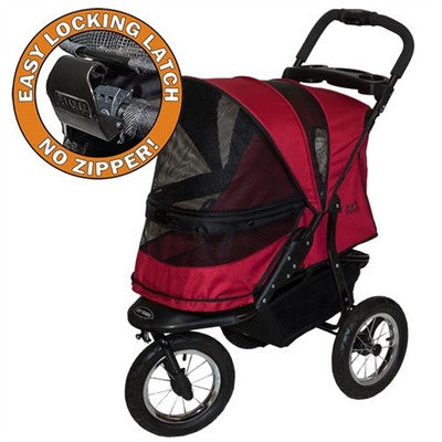 JOGGER NO-ZIP DOG STROLLER RUGGED RED, STROLLERS - Bones Bizzness