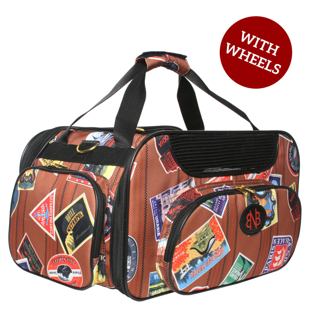WHEELED JETWAY TRAVELER WEEKENDER DOG CARRIER, Carriers - Bones Bizzness