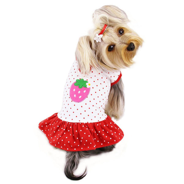 POLKA DOT STRAWBERRY DOG DRESS, DRESS - Bones Bizzness