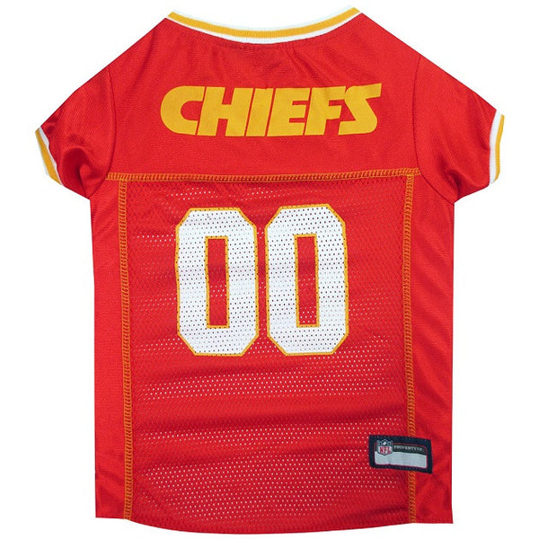 KANSAS CITY CHIEFS DOG JERSEY-YELLOW TRIM, NFL Jerseys - Bones Bizzness
