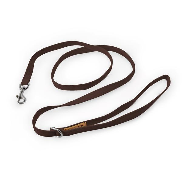 CHOCOLATE PLAIN DOG LEASH, SUSAN LANCI LEASHES - Bones Bizzness