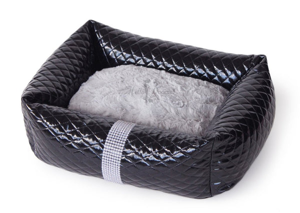 LIQUID ICE LUXURY DOG BED - BLACK