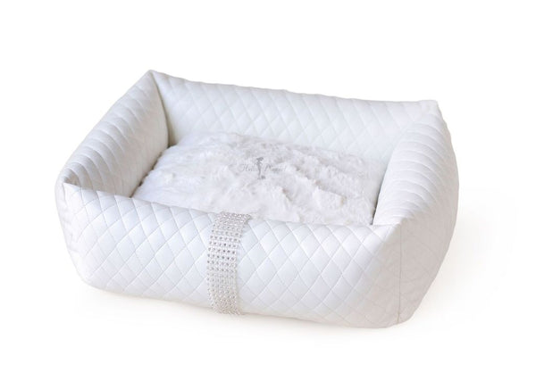 LIQUID ICE LUXURY DOG BED - WHITE