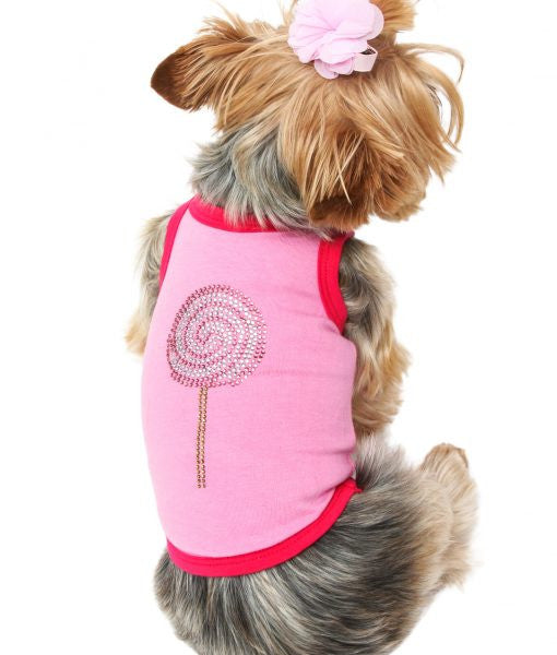 PINK LOLLIPOP DOG TANK, Shirts Tanks & Tees - Bones Bizzness