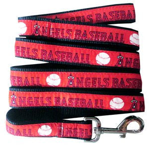 LOS ANGELES ANGELS DOG LEASH – RIBBON, MLB - Bones Bizzness