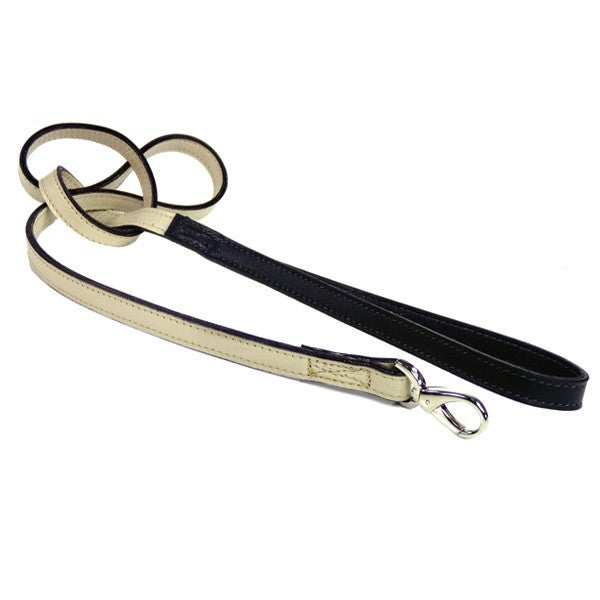 MAYFAIR DOG LEAD IN EGGSHELL & CHARCOAL, Leash - Bones Bizzness