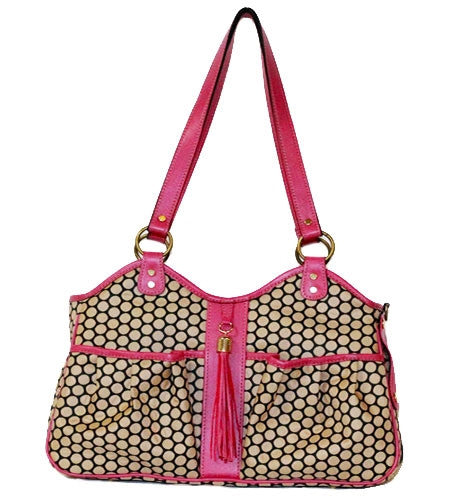 ROSE ESPRESSO METRO COUTURE - TASSEL DOG CARRIER, Carriers - Bones Bizzness