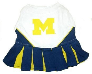 MICHIGAN WOLVERINES CHEERLEADER DOG DRESS, NCAA - Bones Bizzness