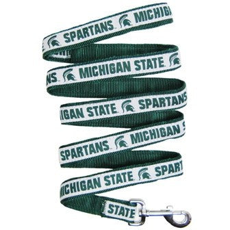 MICHIGAN STATE SPARTANS DOG LEASH- RIBBON, NCAA - Bones Bizzness