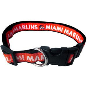 MIAMI MARLINS DOG COLLAR – RIBBON, MLB - Bones Bizzness
