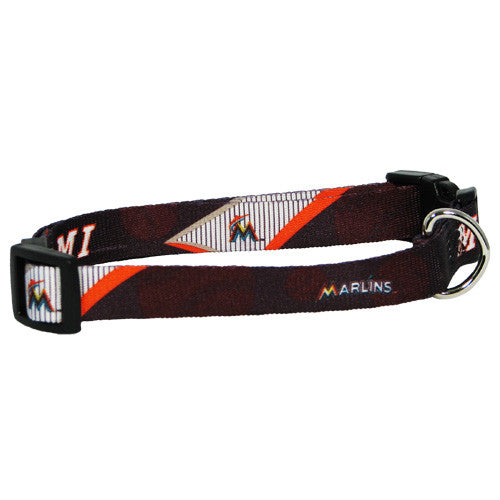 MIAMI MARLINS DOG COLLAR, MLB - Bones Bizzness
