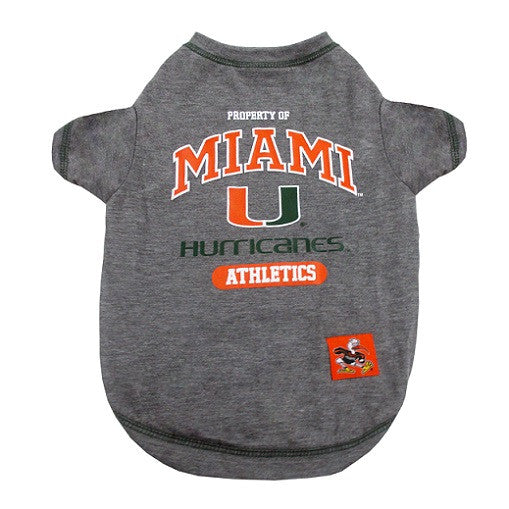 MIAMI HURRICANES DOG TEE SHIRT, NCAA - Bones Bizzness