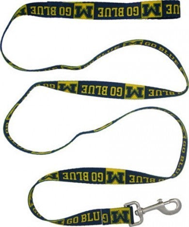 MICHIGAN WOLVERINES DOG LEASH – RIBBON, NCAA - Bones Bizzness