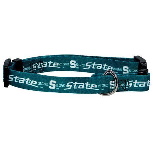 MICHIGAN STATE SPARTANS DOG COLLAR, NCAA - Bones Bizzness