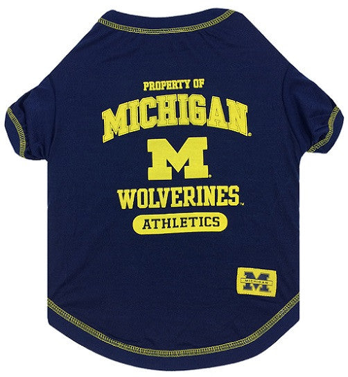 MICHIGAN WOLVERINES DOG TEE SHIRT, NCAA - Bones Bizzness